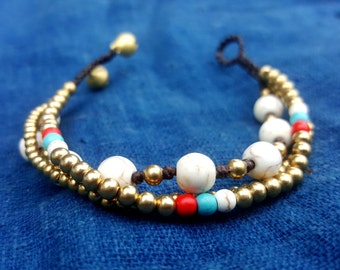 Simple White Beaded Bracelet