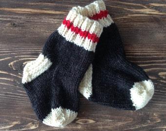 Bas de laine,  bas de laine bébé, bas de laine enfant, bas de laine adulte, bas de laine unisexe, tricoté à la main, cadeau shower