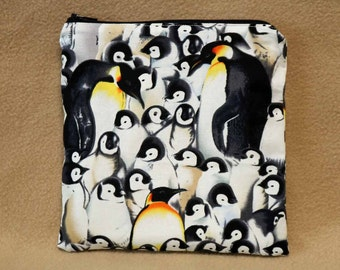 One Sandwich Bag, Reusable Lunch Bags, Waste-Free Lunch, Machine Washable, Penguins, Sandwich Sacks, item #SS76