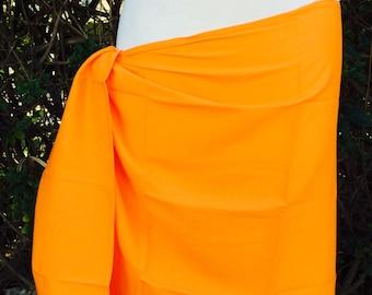 Orange half size pareu ON SALE!!