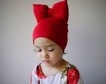 Beanie Bow in Red