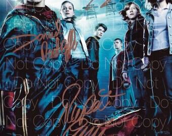 Harry Potter signed 2 Emma Watson Hermione Daniel Radcliffe Rupert Grint Ron Weasley 8X10 photo picture poster autograph RP