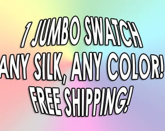 Large Dupioni Swatch - You Choose the Color - Free Shipping