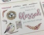 Bird Stickers, Bible Journaling Stickers, Planner Stickers