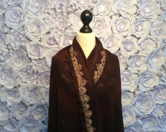 Silk chiffon with the finest merino wool (16 mic)with 100% mulberry silk.