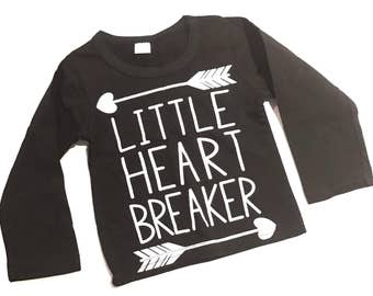 Little Heart Breaker Long Sleeve Shirt Size 12M