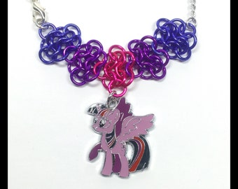 My Little Pony Twilight Sparkle - Chainmaille Charm Necklace