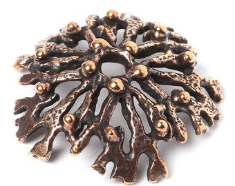 Bead cap 2833(1). Nature Bronze Findings Handmade Metalwork