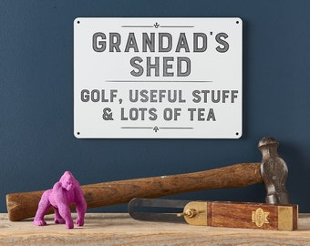 Personalised Grandad Shed Sign