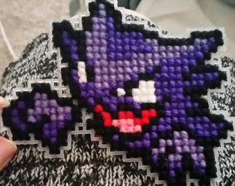 Haunter Cross-Stitch Keychain/Wall Hanging
