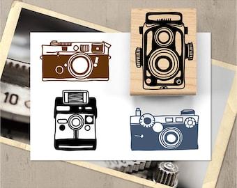 Vintage Camera Rubber Stamp, Antique Camera Stamp Set, Photographer Stamp, Travel Journal Stamp, Vintage Photography