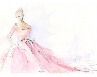 Pink Gown  painting