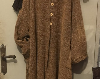 Wool coat cardigan by Vicky Lobstein