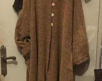 Wool coat cardigan by Vicky Lobstein