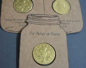For Richer or Poorer Wedding  Favours