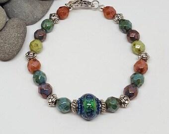 Bohemian Mood Bead Bracelet - Bohemian Bracelet - Mood Bead Bracelet