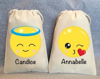 "12-  Emoji party, Emoji party supplies, Emoji Birthday, Emoji party favors, emoji favor bags, emoji party favor bags- emoji- 5""x8"""