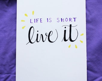 Life is Short Poster