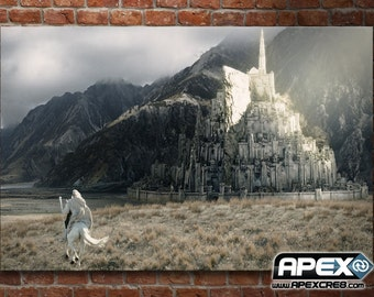 Gandalf the White rides to Minas Tirith - Lord of the Rings Tolkien - Stunning Canvas! - Supersized Canvas