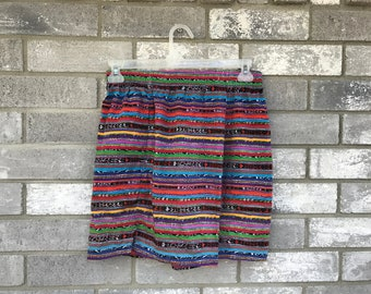 vintage southwestern bright neon shorts