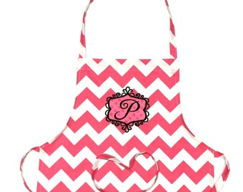 Personalized Apron - Child's Apron - Art Apron - Cooking Apron - Embroidery Letter - Embroidery Apron