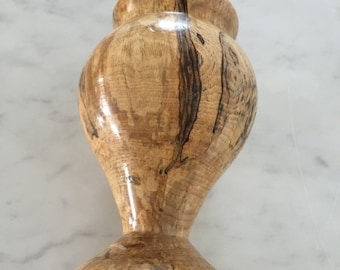 Spalted Maple Wooden Vase, Lathe turned