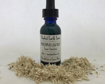 Organic Marshmallow Root Tincture - Cough - Digestion - UTI - IBS - Sore Throat - Heartburn - Respiratory Health - Herbal Remedy