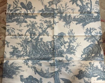 French Country Or Shabby Chic Clarence House Fabric Toile Called Les
