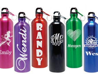 Personalized Water Bottles Stainless Steel Water Bottle Custom Engraved BPA Free Name-Eco-friendly Wedding Gift, Housewarming Gifts 6 Colors