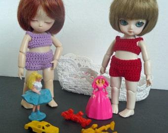 Red undie set for AI BJD