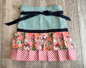 Pick Your Own Fabric, emajen, emajendesigns, Imagine, Ruffled Apron, Half Apron, Half Apron with Ruffles, Towel Aprons, Absorbent Aprons