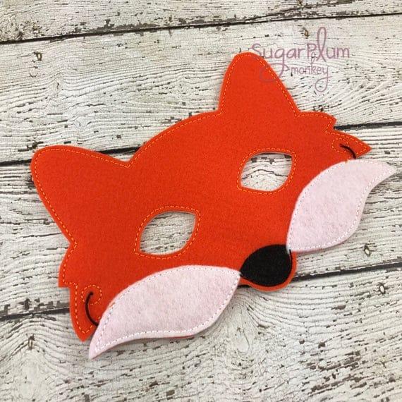 fox mask mr fox children 39 s felt fox mask. Black Bedroom Furniture Sets. Home Design Ideas