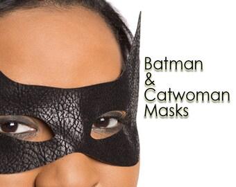 Batman Mask Catwoman Mask 3 Material Options SINGLE Mask Superhero Costume Mask