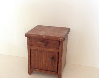 1:12 vintage dollhouse miniature cupboard side table