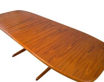 Skovby 8ft Teak Dining Table Mid Century Danish Modern