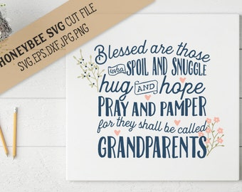 Blessed are Grandparents svg eps dxf jpg png cut file for Silhouette and Cricut type craft machines