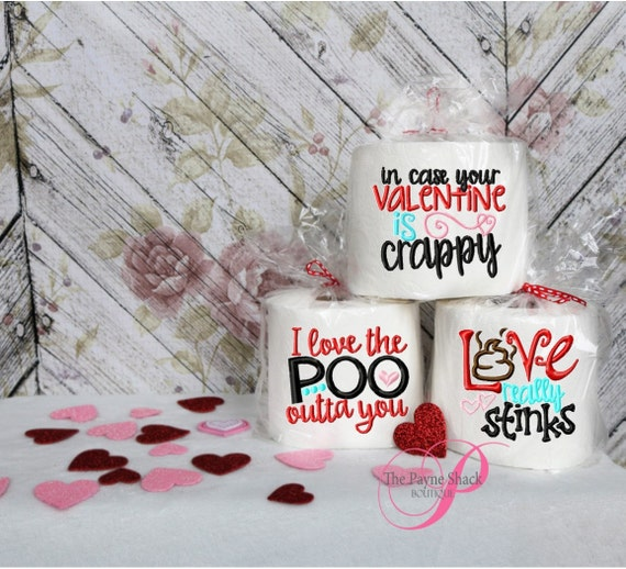 Embroidered toilet paper valentine s day gift gag