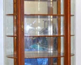 18218 Unusual Oak Dainty Curio Cabinet