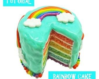 Tutorial - Rainbow Cake - Miniature 1:12 Scale Food