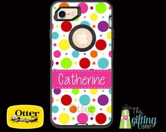 Monogrammed OtterBox Defender Case, iPhone 7/7 Plus, 6/6S & 6/6S Plus, 5/5S/SE/5C, iPod Touch 5/6, Galaxy S7/S6/S5/S4, Note 5/4, Gumballs