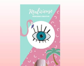 Pin's blue eye / Malicieuse accessories