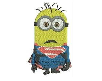 Superman Minions - Instant Download Machine Embroidery Designs - Cartoon Embroidery Design 47