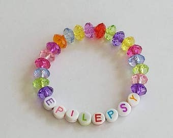 Childs Medical ID Bracelet, Epilepsy Alert Bracelet