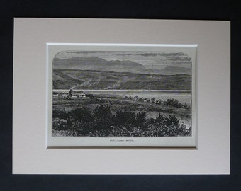 Antique Drumossie Moor Print, Battle of Culloden Decor, Historical Scottish Highlands Gift for Scot, Available Framed, Scotland Art Jacobite