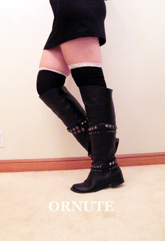 thigh highs the knee socks lace boot socks womens by