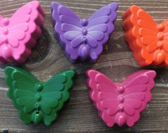 Butterfly Crayons set of 80 - Butterfly Party Favors - Butterfly Party - Garden Party