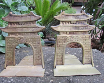 Vintage Brass Pagoda Folding Bookeneds Korea