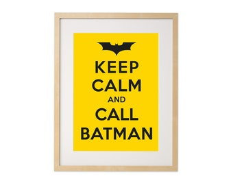 Fine art print · Keep calm and call Batman · DIN A4