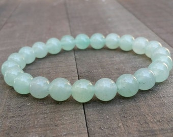 Green aventurine stretch chakra bracelet wrist mala bracelet energy bracelet power beads bracelet heart chakra summer bracelet