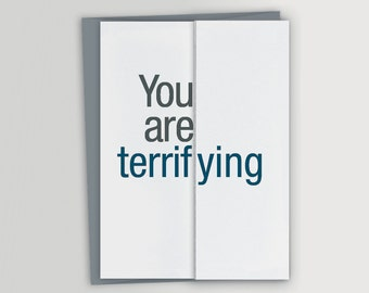 Funny Card for Boss / Terrifying / Funny Boss' Day Card / Funny Birthday Card for Boss